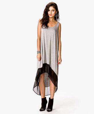 Heathered High-Low Dress CAD $15.80
