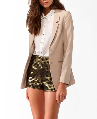 Longline Notched Lapel Blazer Was-CAD $41.80 Now-CAD $19.99