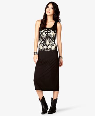 Tiger Graphic Maxi Dress CAD $17.80