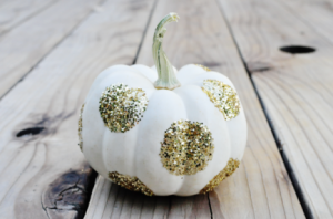glittered-pumpkins-434x287