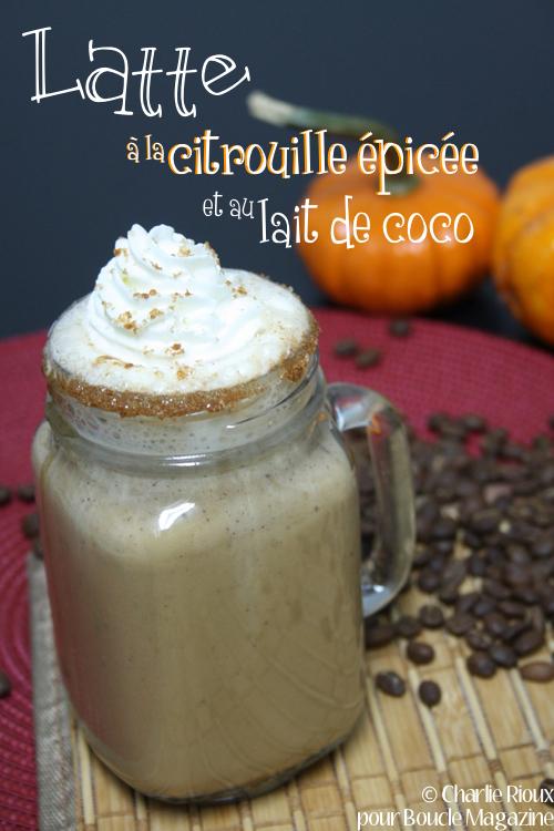 latte a la citrouille epicee et au lait de coco