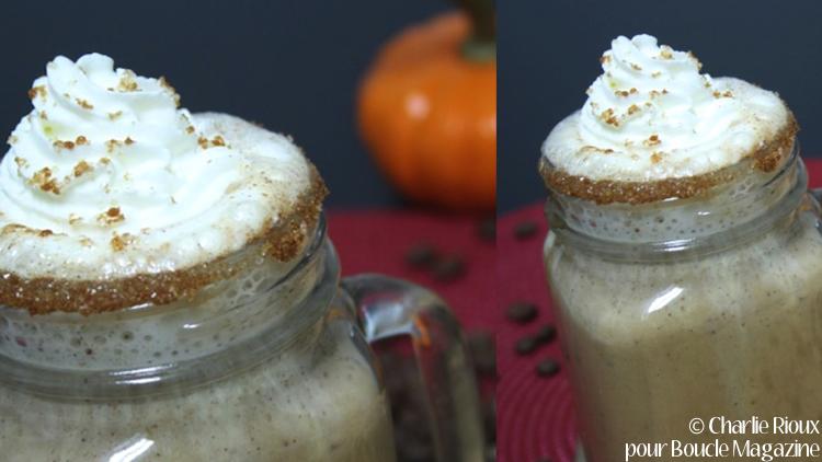latte citrouille epicee creme fouettee