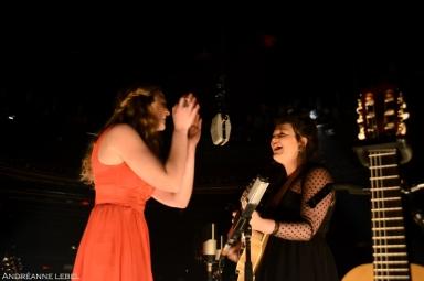 Les soeurs Boulay lors du lancement de leur album Le poids des confettis. Crédit : Andréanne Lebel