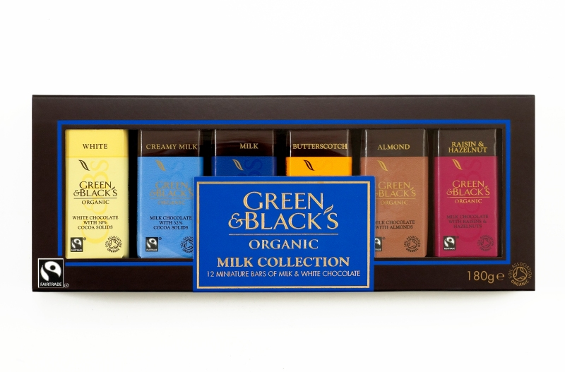 Green & Black's Organic - Collection classique de tablettes miniatures