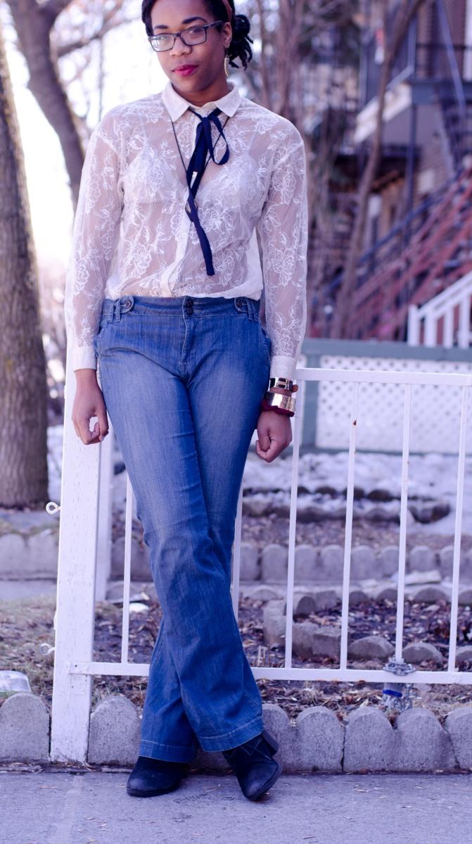 Comment porter : le jeans à jambe large