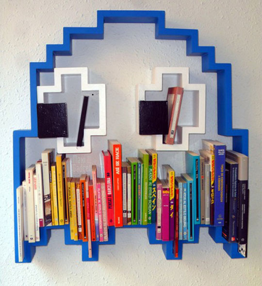 pacman-bibliotheque-3D-pour-geek