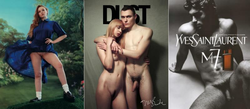 Quelques exemples de nudité nonchalante et non provocante.