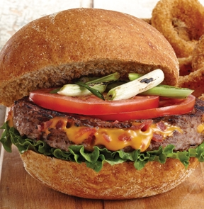 Burger de bœuf farcis au fromage et bacon