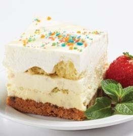 Gâteau confetti à la crème