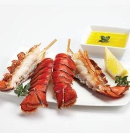 Brochettes de queue de homard